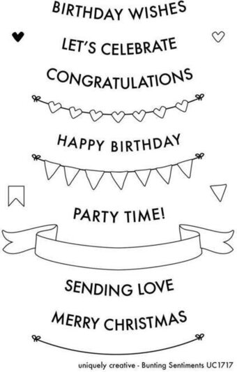 Bunting Sentiments - Clear Stamp
