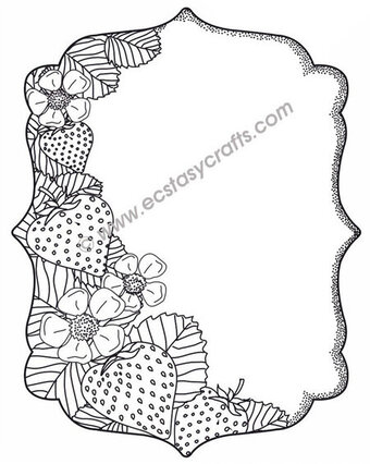 Strawberry Patch - Sue Wilson Foam Mounted Stamp
