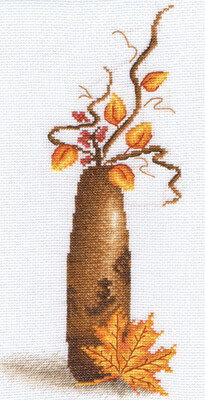 Yellow Leaf - Cross Stitch Kit