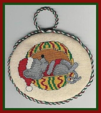 Mouse Tails Ornaments - Cross Stitch Pattern