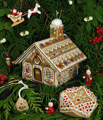 Gingerbread Stitching House - Cross Stitch Pattern