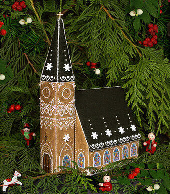 Gingerbread Church - Cross Stitch Pattern