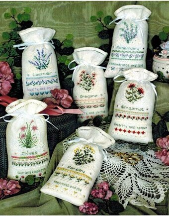 Herbal Sachets - Cross Stitch Pattern