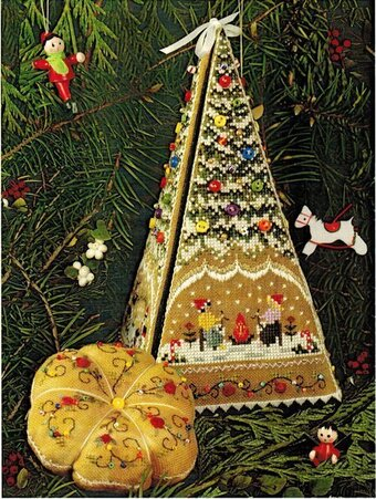 Gingerbread Tree Etui - Cross Stitch Pattern