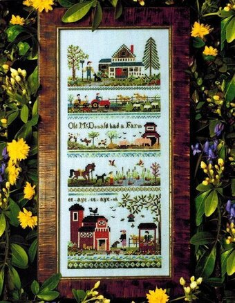 Old McDonald's Farm - Cross Stitch Pattern
