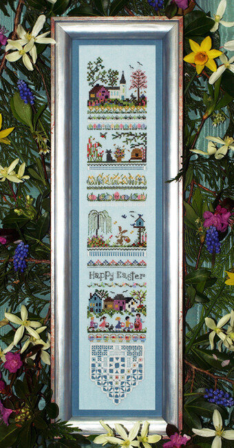 Easter Egg Hunt Sampler - Cross Stitch Pattern