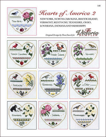 Hearts Of America 2 - Cross Stitch Pattern