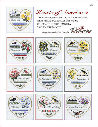 Hearts Of America 4 - Cross Stitch Pattern