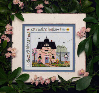 Cherry Blossom Cottage - Cross Stitch Pattern