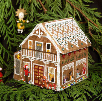 Country Cottage Needleworks Glitter House Three Cross Stitch