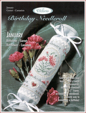 January Birthday Needleroll - Cross Stitch Pattern