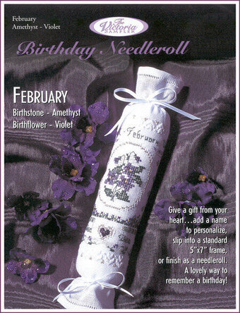 February Birthday Needleroll - Cross Stitch Pattern