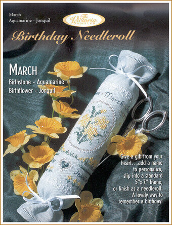 March Birthday Needleroll - Cross Stitch Pattern