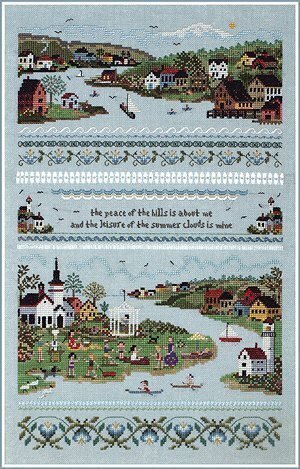 Harbour Village - Cross Stitch Pattern