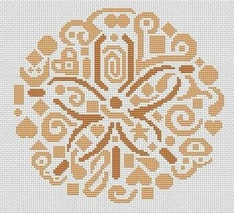 Tribal Sand Dollar - Cross Stitch Pattern