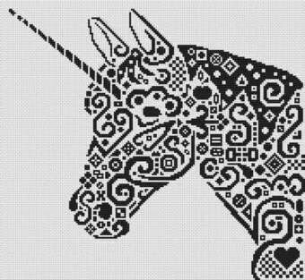 Tribal Unicorn - Cross Stitch Pattern