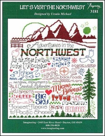 Let's Visit the Northwest - Cross Stitch Pattern