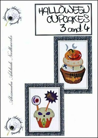 Halloween Cupcakes 3 & 4 - Cross Stitch Pattern
