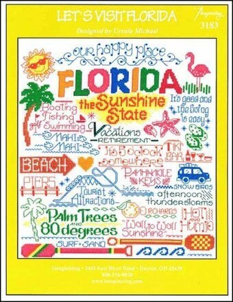 Let's Visit Florida - Cross Stitch Pattern