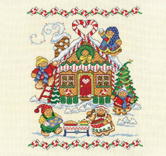 Gingerbread Family - Cross Stitch Pattern