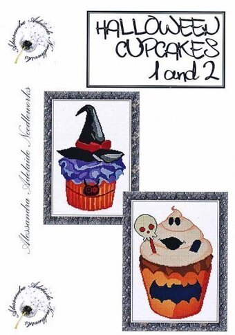 Halloween Cupcakes 1 and 2 - Cross Stitch Pattern