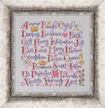 Valentine Sampler - Cross Stitch Pattern