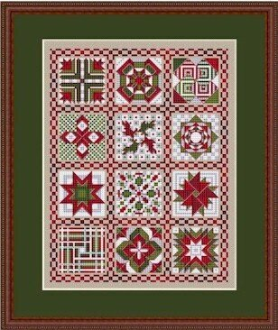 Told In A Garden My Quilt - Cross Stitch Pattern - 123Stitch.com