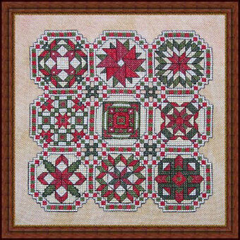 Favorite Quilt Squares #1 Counted Cross Stitch Chart