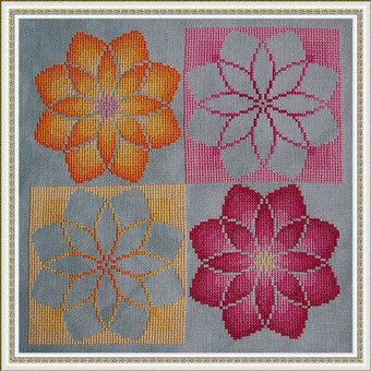 Olivia's Flowers - Cross Stitch Pattern