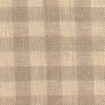 28 Count Light Khaki Gingham Linen Fabric 17x26