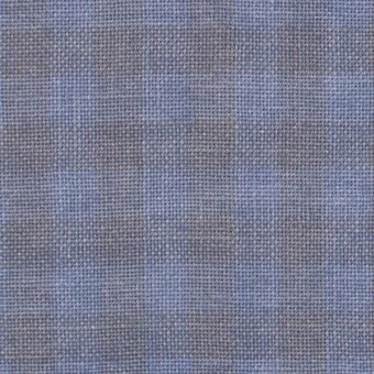28 Count Blue Jeans Gingham Linen Fabric 35x52