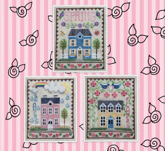 Spring House Trio - Cross Stitch Pattern