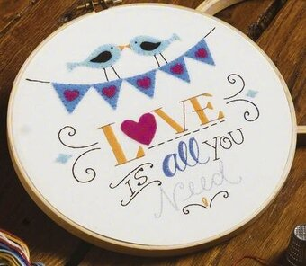 Love is All You Need - Stamped Embroidery Kit
