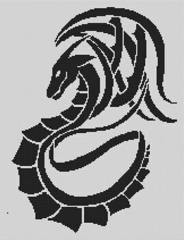 Tribal Dragon - Cross Stitch Pattern
