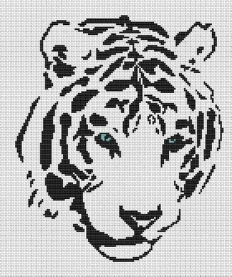 White Willow Stitching Tribal White Tiger Cross Stitch