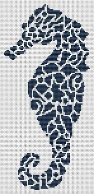 Tribal Seahorse - Cross Stitch Pattern