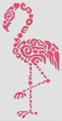 Tribal Flamingo - Cross Stitch Pattern