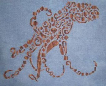 Tribal Octopus - Cross Stitch Pattern