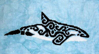 Tribal Orca - Cross Stitch Pattern