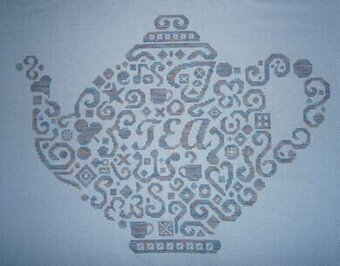 Tribal Teapot - Cross Stitch Pattern