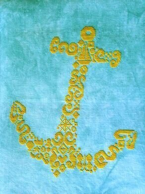 Tribal Anchor - Cross Stitch Pattern