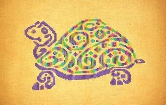 Tribal Turtle 2 - Cross Stitch Pattern