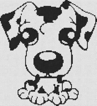 Cartoon Dalmatian - Cross Stitch Pattern