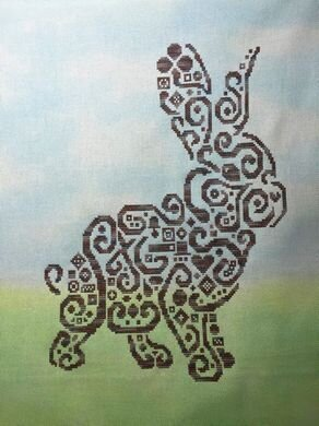 Tribal Bunny - Cross Stitch Pattern