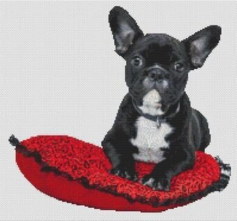 Spoiled French Bulldog - Cross Stitch Pattern