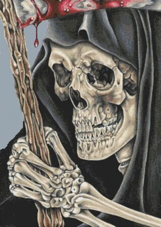 Grim Reaper - Cross Stitch Pattern