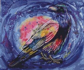 Rainbow Raven - Cross Stitch Pattern
