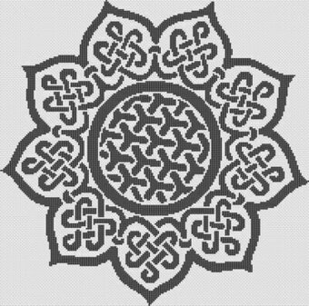Celtic Sunflower - Cross Stitch Pattern