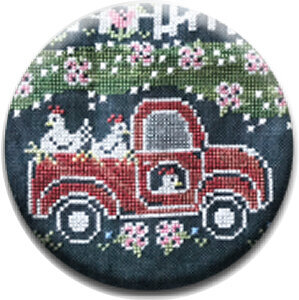 Little Red Truck - Fresh Eggs Farm - Zappy Dots Needle Nanny