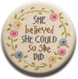 She Believed She Could - Zappy Dots Needle Nanny